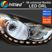 Flexible Universal 12V Dual Color LED Daytime Running Lights Car Flexible DRL