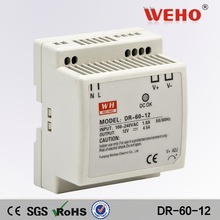 New & Original 60W single output DIN Rail power 12v 3 amp power supply