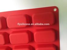 BPA free FDA grade Rectangle 12 cavity silicone loaf pan