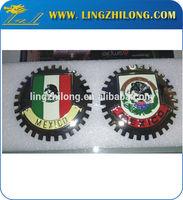 Custom good quality chrome auto sticker badge emblem round car logo emblem