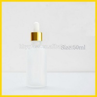 White transparent Essential oil bottles could frosting, perfume glass bottle