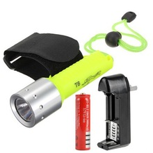 Underwater Diving 1600 LM T6 LED 60M Flashlight Torch Lamp Waterproof 1x18650 Charger