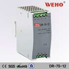 Hot and New 75W single output DIN Rail power 12v ac dc switch mode power supply