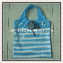 full printing luxury nylon shopping bag