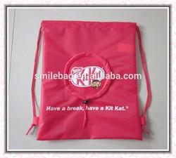 210D polyester drawstring bags/ nylon drawstring bag/foldable drawstring bag