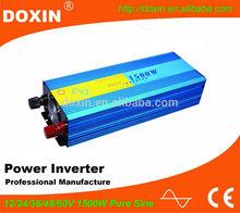 Guangzhou Inverter Factory DOXIN1500W Pure Sine Wave Power Inverter 12V 220V