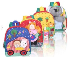 2014 Cute Cartoon Animal plush toys School Bag for Kids