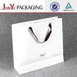 printing both side satin handle kraft large paper shopping bags