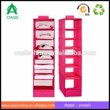 High quality 7 shelf closet organizer/Closet Hanging Non-woven Storage Organizer 7-Unit Shelf