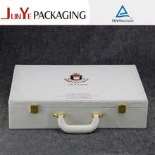 Custom hot sale 3 bottle portable wine set box