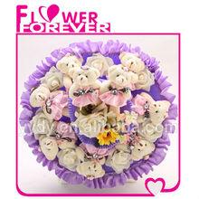 wholesale plush doll cat bouquet toy