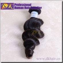 Factory Wholesale DK 100 malaysian loose wave virgin hair weaving weft