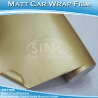 Car Decal Self Adhesive Vinyl Decoration Matte Gold Film PVC Sticker Roll