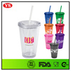 Promotion 16 oz plastic acrylic tumbler with removable insert wholesale