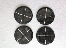 Custom shaped round diameter 80mm 5.5v 0.6w mini epoxy resin solar panels for solar led light/ charger