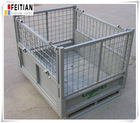 Galvanized welded wire mesh steel metal foldable cage pallets