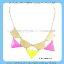 wholesale enamel clover necklace zinc alloy neon necklace