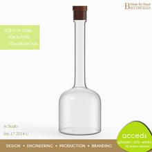 Fancy 2014 New Designed Crystal Glass Bottle For Alcohol