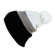 Contrasting color beautiful knitting hats winter shopping need outdoor beanie hat custom knitted pom beanie hat for kids