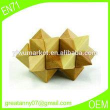 Alibaba china yiwu factory high quality Intelligent educational toy wooden puzzle interlocked toys for kids