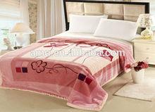 super soft animal print polyester mink blankets in pvc zipper bag