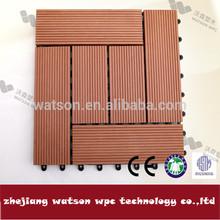 waterproof outdoor wood plastic removable floor tiles of china manufacturer