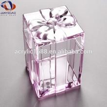Fashionable design acrylic transparent plastic gift box