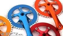 Fixed gear bike chainwheel and crank