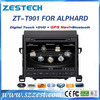 ZESTECH 9 inch touch screen car Accessories for Toyota Alphard Vellfire Accessories with GPS,buletooth,ipod,RDS,3G +factory