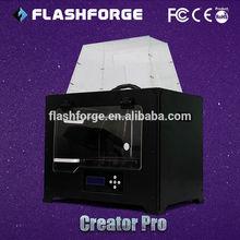 2014 dual extruder metal frame Flashforge Creator Pro 3d printing firms