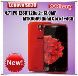 "Original Lenovo S820 MTK6589 Qual Core 3G Smartphone 4.7"" IPS 1280x720 13MP Dual Camera Dual SIM Card Dual Standby GPS FM"