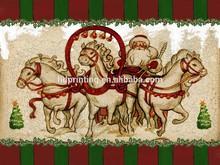 Santa Claus Christmas LED canvas Art