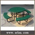 arlau tb298 exterior metal expandido redonda mesa de jantar e cadeiras
