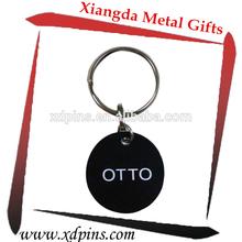 Personalized metal custom shaped key holder keyring