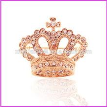 Fashion Bling Rhinestone Crown Brooch