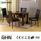 Square Table and 4 Stitches Chairs, 5 Piece Modern Artificial Luxury Color Marble Dining Room Set