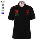 Black 2015 new design men short sleeve muscle polo t shirts