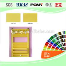 Epoxy /polyester hybrid powder coating for radiator section