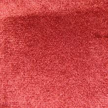 iron red polyester fake super soft velvet sofa fabric