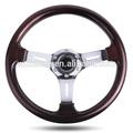 Abs 350mm car racing/kart esporte/madeira clássica/volante
