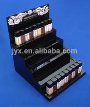 Black elegant acrylic 5 tier nail polish display