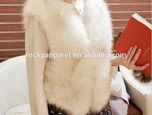 2015 best selling white fox fur coat
