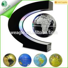shenzhen wholesale fancy gift colorful C shape LED magnetic levitation globe