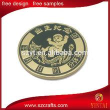 Folk art 3d souvenir birthday coin