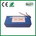 24 volt bateria de lítio íon 25ah para backup