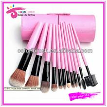 Wholesale portable 12pcs travel brush set basic makeup needs
