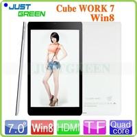 Win 8.1 OS Tablet RAM 1GB ROM 16GB 7.0 inch Cube WORK7 CPU Intel Atom Z3735G light body support wifi/bluetooth/OTG
