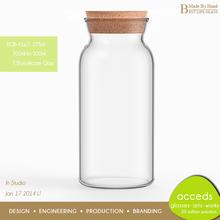 Cheap Custom Wide Mouth Glass Milk Bottle