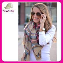New design big plaid cashmere scarf
