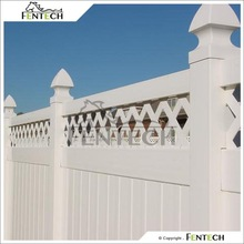 Hot Sale High Standard Made in China Fentech Elegant White Fence PVC Privacy Lattice